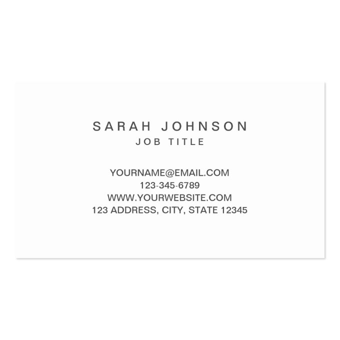 Minimal Photographer Business Card (back side)