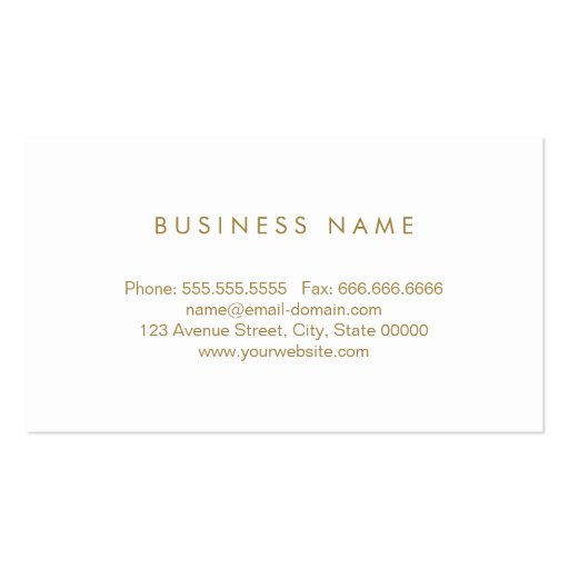 Massage Therapist - Cute Gold Polka Dots Business Card Template (back side)