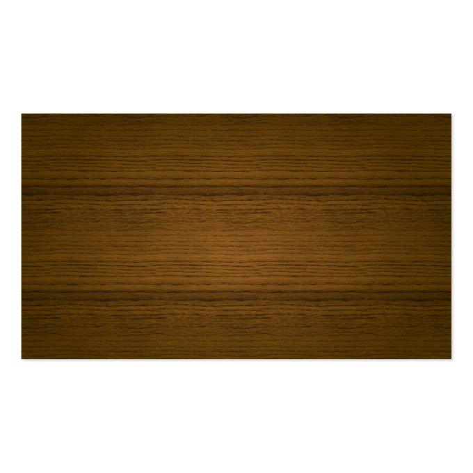 Leather & Wood Psychologist Business Card (back side)