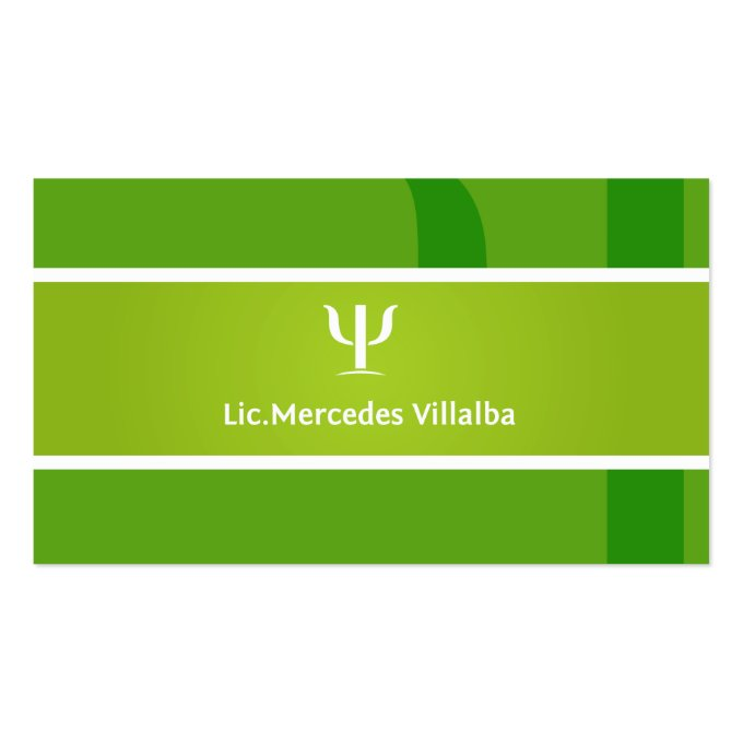 Psychologist  Business Card Template (back side)