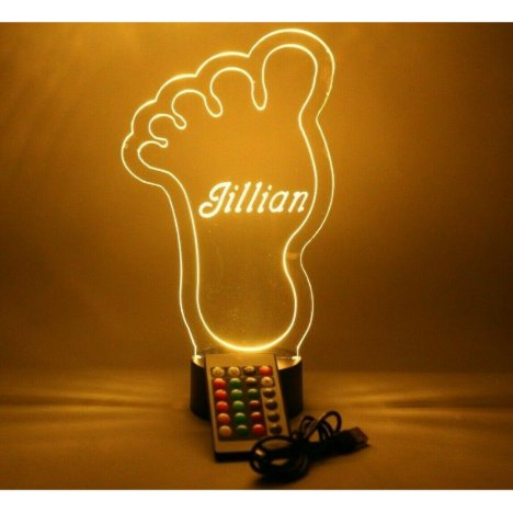 Foot Night Light Up Table Lamp LED Personalized