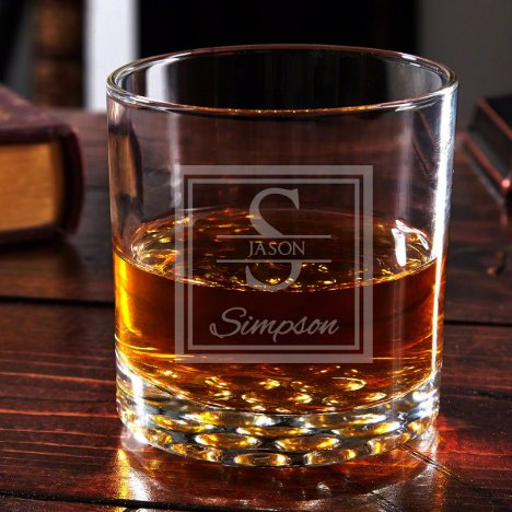 Oakhill Monogram Engraved Buckman Whiskey Glass