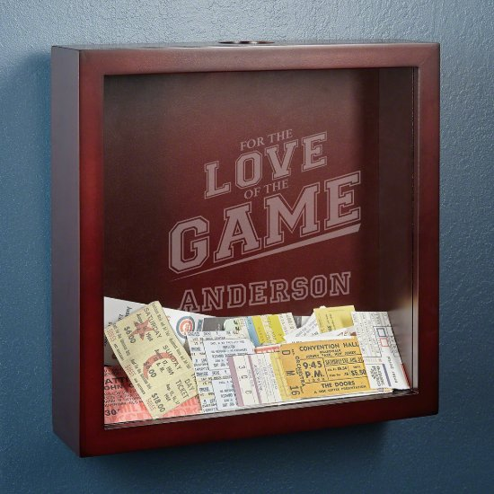 For The Love Of The Game Custom Ticket Stub Holder