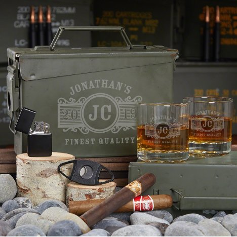 Ammo Can Gift Set with Marquee Whiskey Glasses