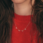 """Beautiful Hanging Letter Name Necklace<br><div class=""""desc"""">Our name necklace in 18k gold plating lets you spell out any name or word in delicate capital letters that shimmer and shine as they capture the light. With enough space for up to eight letters, this lovely piece features a classic cable chain with an extender that allows you to...</div>"""