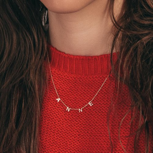 Beautiful Hanging Letter Name Necklace