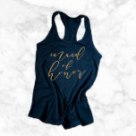 """Maid of Honor Bridal Party Racerback Tank Top<br><div class=""""desc"""">These bridal party shirts are adorable and super comfy! Your bridesmaids will love wearing these for pre-wedding errands,  the bachelorette party,  or even the wedding morning!</div>"""
