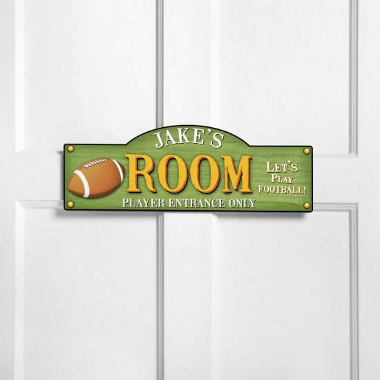 Personalized Football Kids Bedroom Sign