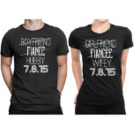 "Hubby & Wifey Wedding Date Keepsake T-shirts<br><div class=""desc"">All Our products proudly designed and print in the United States. We are working with one of the best clothing company to supply our plain t-shirts and use #1 DTG Printer in the market to print your Personalized Matching Shirt with this perfect combination your t-shirt will last forever, and you...</div>"