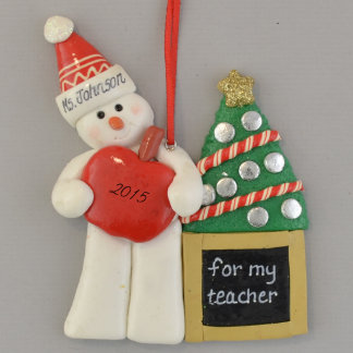 Teacher Snowman Ornament
