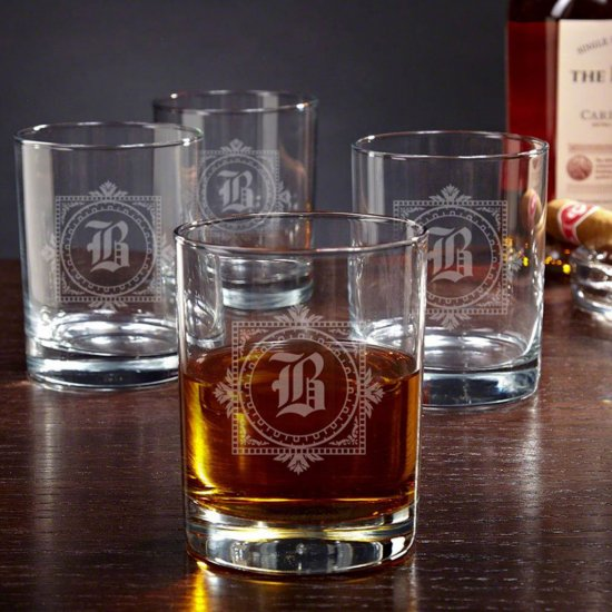 Set of 4 Beautiful Winchester Whiskey Glasses
