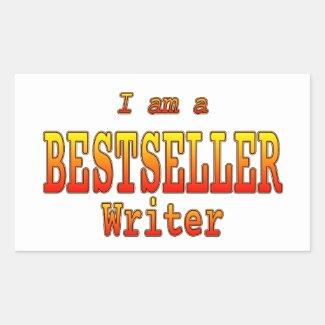 Bestseller Writer Stickers