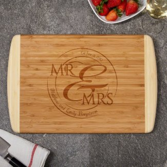 Natural Bamboo Cutting Board w/Custom Engraving