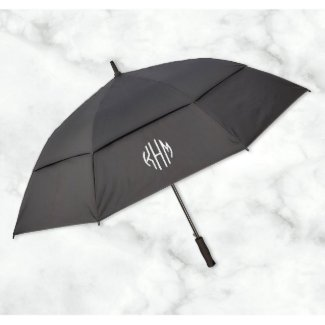 Embroidered Golf Umbrella With Monogram