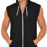 """<p>American Apparel's classic and super-soft California Fleece hoodie is now sleeveless. Perfect for layering or workouts, this lightweight 100% cotton hoodie features a kangaroo pocket in front and white drawcord. Select a design from our marketplace or customize it and unleash your creativity!</p> <p>Size & Fit</p> <ul> <li> Model is 6'0"""" and wearing a large</li> <li> Slim fit</li> <li> Garment is unisex</li> </ul> <p>Fabric & Care</p> <ul> <li> California Fleece (100% Cotton) construction</li> <li> Metal zipper and hood with a white polyester drawcord</li> <li> Made in the USA</li> <li> Machine wash cold</li> </ul>"""
