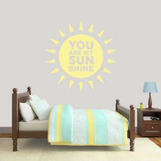 X-Large You Are My Sunshine Wall Decal