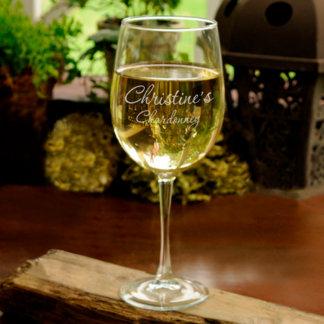 Copa de vino del blanco del perito