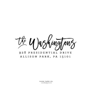 "Self Inking Return Address Stamp ""The Washingtons"""