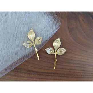 Gold Leaf Bobby Pins