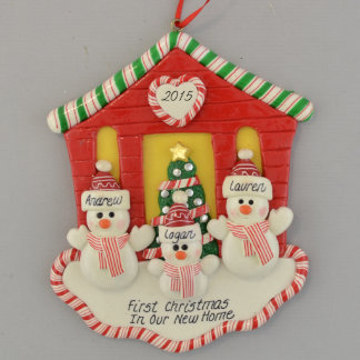 First Christmas New House for 3 Ornament