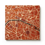 París, Francia por los mapas del grabar en madera