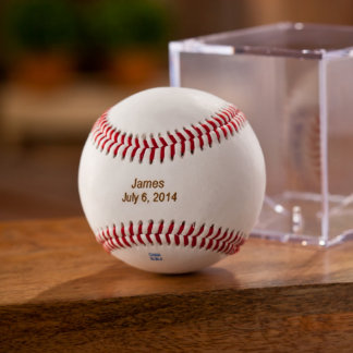 Personalized Rawlings Baseball with Stand