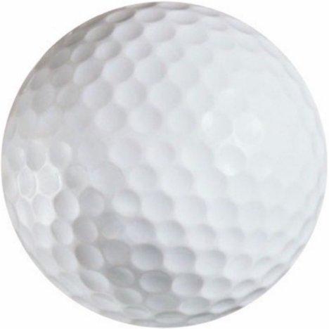 Pack of 12 Printed White Golf Balls