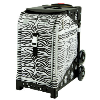 ZÜCA Rolling Bag w/Zebra & Black Sport Frame