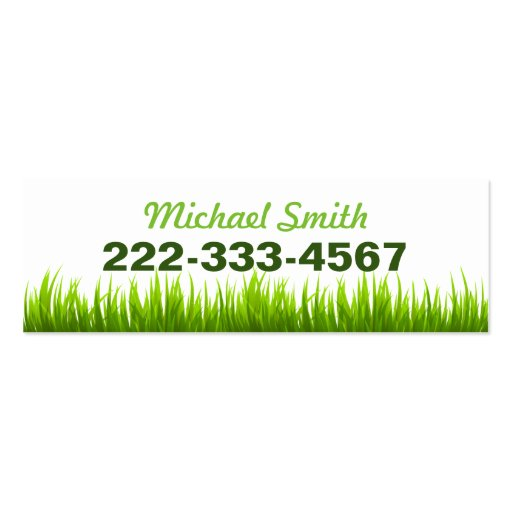 Minimal Lawn Care Landscaping Services Double-Sided Mini Business Cards (Pack Of 20) (back side)