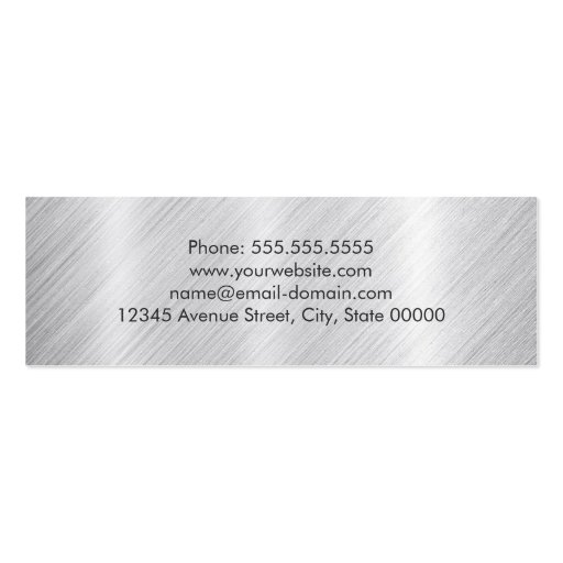 Graduation Name Card Modern Brushed Metallic Look Double-Sided Mini Business Cards (Pack Of 20) (back side)