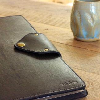 Personalized Black Leather Vanderbilt Portfolio