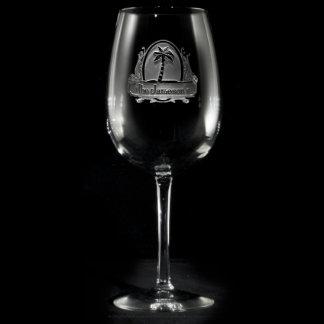 Copa de vino personalizada paraíso tropical