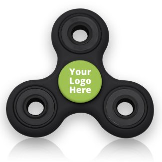 Black & Green Personalized Fidget Spinner Toy