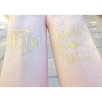 Bride and Bridesmaid Bachelorette Party Tattoos