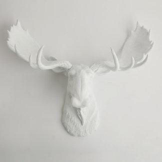 White Wall Décor Faux Moose Head
