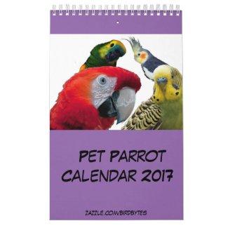 "Pet Parrot 2017 Calendar, Small 11"" x 7"" Single Pg Calendar"