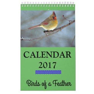 "2017 Calendar Birds of a Feather, 11"" x 7"""
