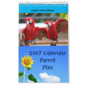 Parrot Play Single Page Calendar, Small 11
