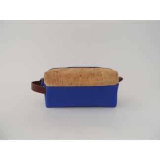 Cork Dash and Blue Canvas Dopp Kit
