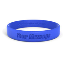 Classic Engraved Rubber Silicone Wristband