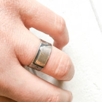 Sterling Silver Montana GPS Ring