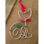 "Adorable Cat Holiday Wire Christmas Ornament<br><div class=""desc"">Don"