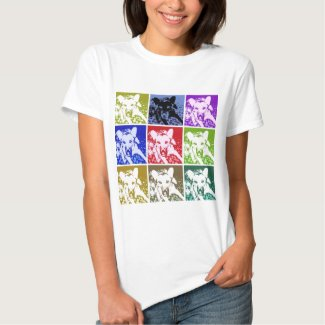 German Shepherd Pop Art Tee Shirt