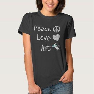 Peace Love Art Fairy (Dark) Shirt
