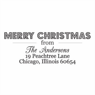 Merry Christmas in Lights Self Inking Stamp
