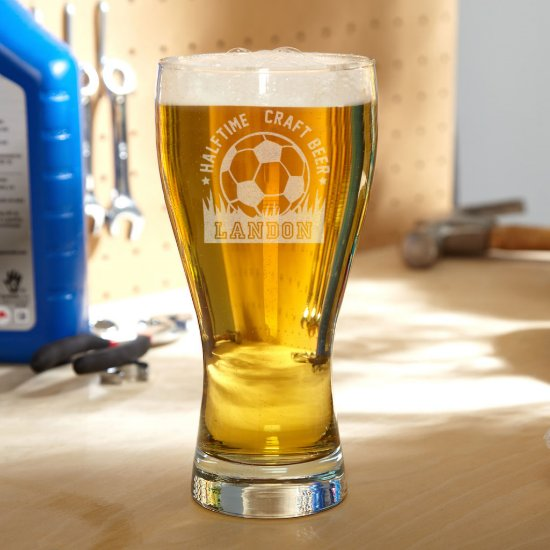 Halftime Soccer Personalized Pilsner Glass