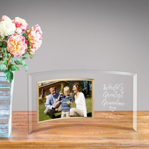 Greatest Grandma Engraved Glass Picture Frame