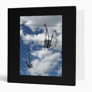 Ski Lift and Sky 3 Ring Binder