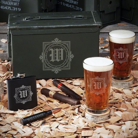 Winchester 50 Cal Ammo Can Set w/ Beer Kit & Flask