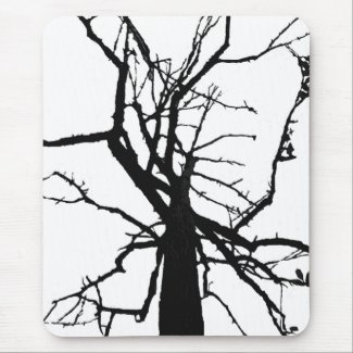 Tree Top Abstract Mousepad